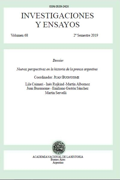 Ver Núm. 68 (2019): Investigaciones y Ensayos