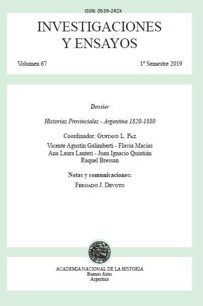 Ver Núm. 67 (2019): Investigaciones y Ensayos