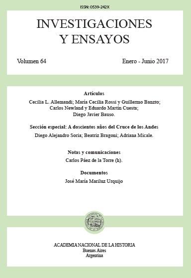 Ver Núm. 64 (2017): Investigaciones y Ensayos